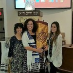 2016-01-08 B'not Mitzvah holding the Torah2