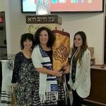 2016-01-08 B'not Mitzvah holding the Torah2